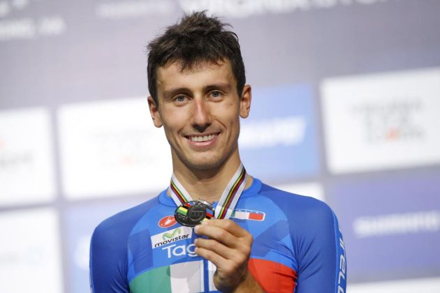 Adriano Malori (Italy) placed second in the the Mens TT at the 2015 UCI World Championships