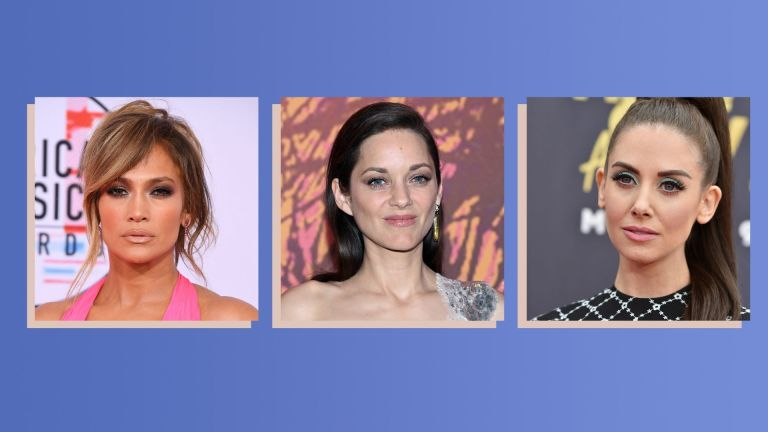 Jennifer Lopez, Marion Cotillard, Alison Brie with strong eyeshadow looks