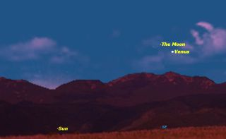 uary 2013 Moon and Venus Sky Map
