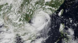 Typhoon Rammasun's eye over northern China