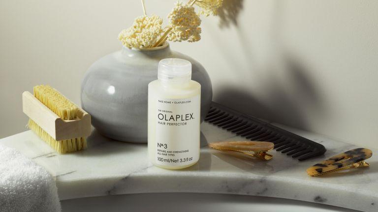 Olaplex on bathroom sink