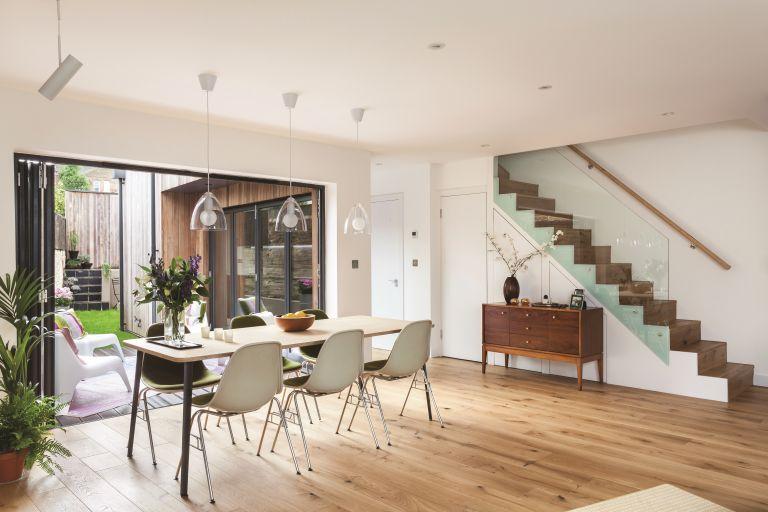 Kloeber bi-fold doors in a dining room