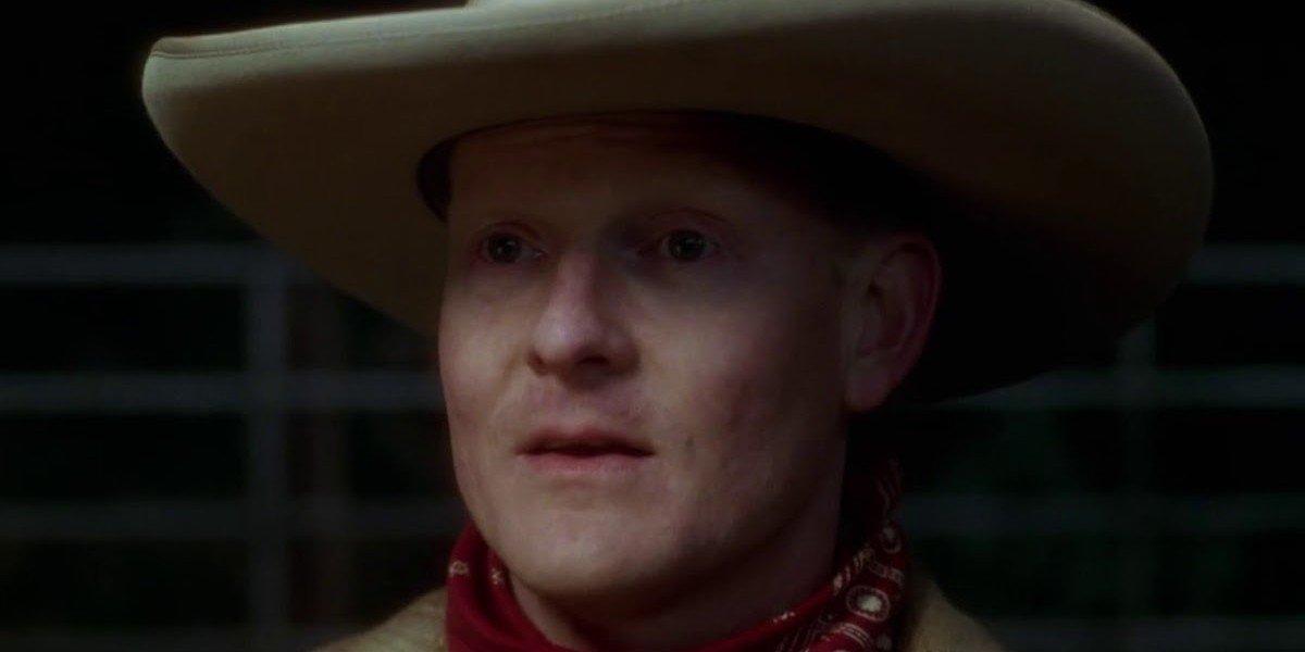 The cowboy with no eyebrows