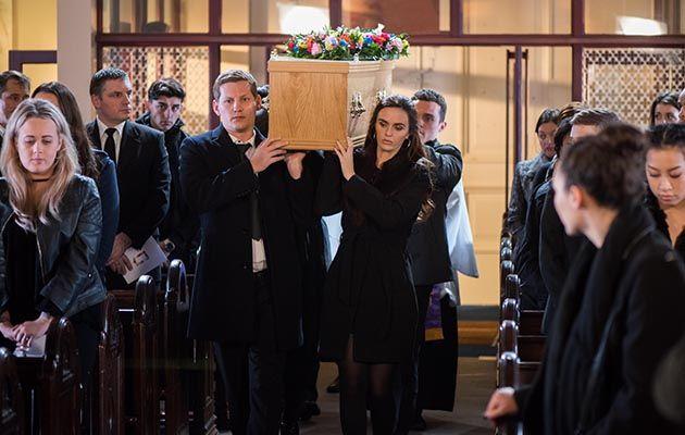 Celine McQueen funeral, Hollyoaks