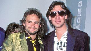 Michael Anthony and Alex Van Halen
