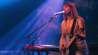 Jenn Wasner of Wye Oak performs at Saturn Birmingham on July 27, 2018 in Birmingham, Alabama.