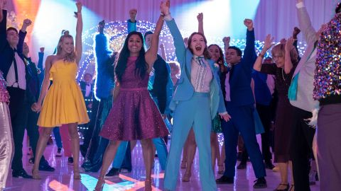 Ariana DeBose and Jo Ellen Pellman in 'The Prom'.