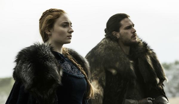 Sansa Stark Sophie Turner Jon Snow Kit Harington Game of Thrones HBO