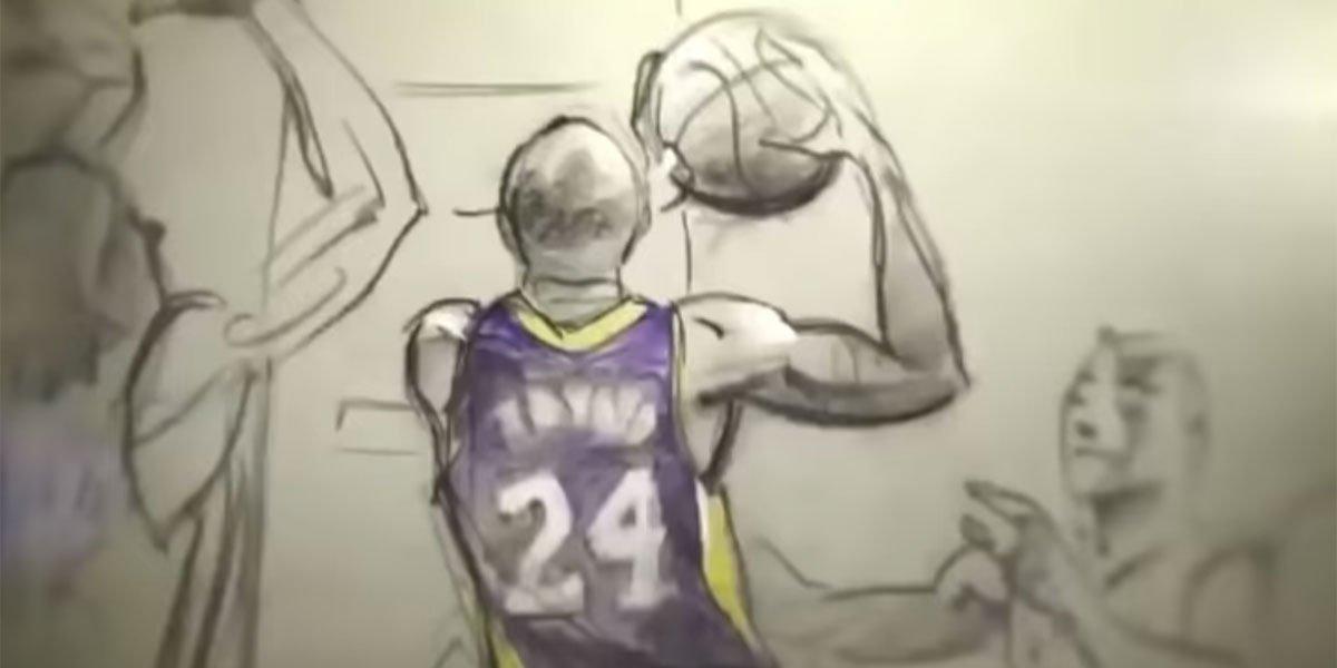 Kobe Bryant in Dear Basketball Short by Glen Keane 2017 screenshot