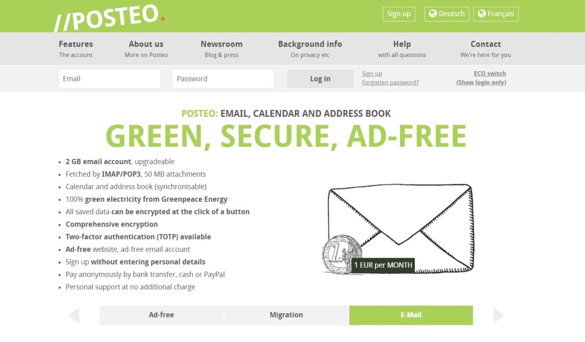 Posteo Secure Email Service Similar to Gmail