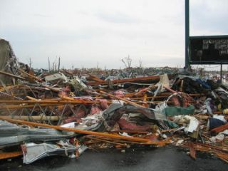 The damage wrought by a massive tornado in Joplin, Mo., in May 2011.