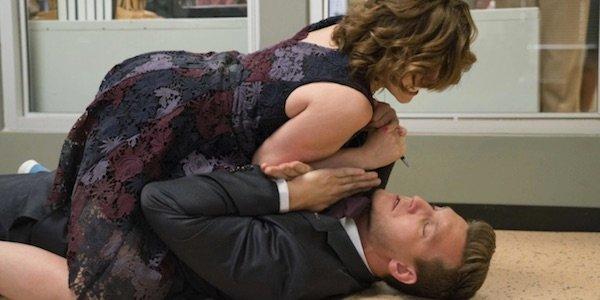 Nathaniel battling Rebecca in Crazy Ex-Girlfriend