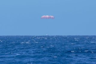 SpaceX's Dragon capsule splashed down in the Pacific Ocean on May 18, 2014 after about one month in space.