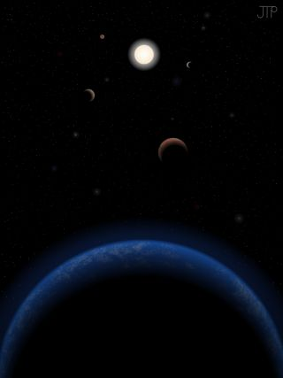Five Possible Planets Orbiting Tau Ceti