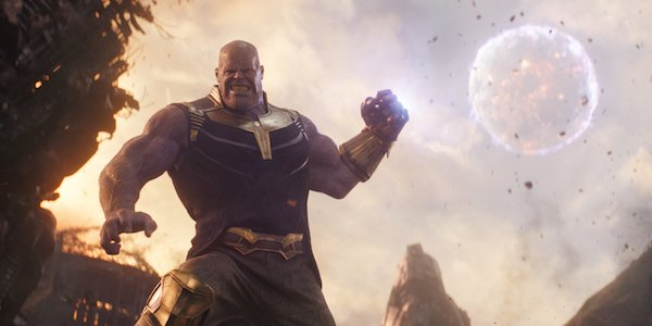 Thanos throwing moon in Avengers: Infinity War