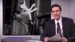 Norm Macdonald at the Weekend Update desk.
