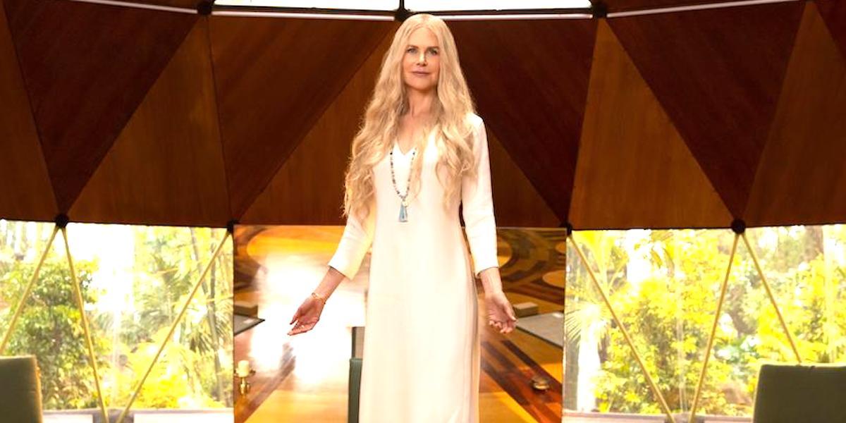 Nicole Kidman's Masha stands in Tranquillum House in Nine Perfect Strangers