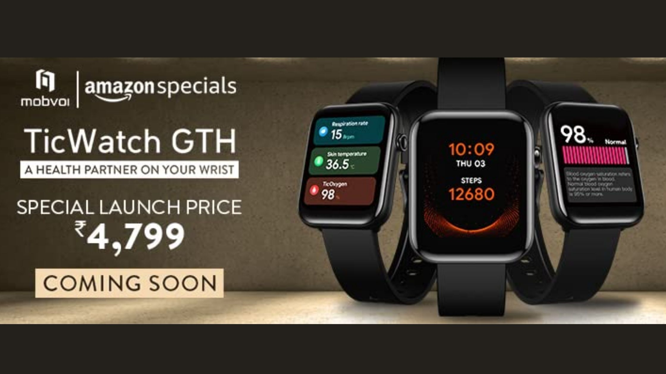 TicWatch GTH price in India
