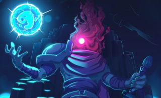 An image of the protagonist from the video game Dead Cells.