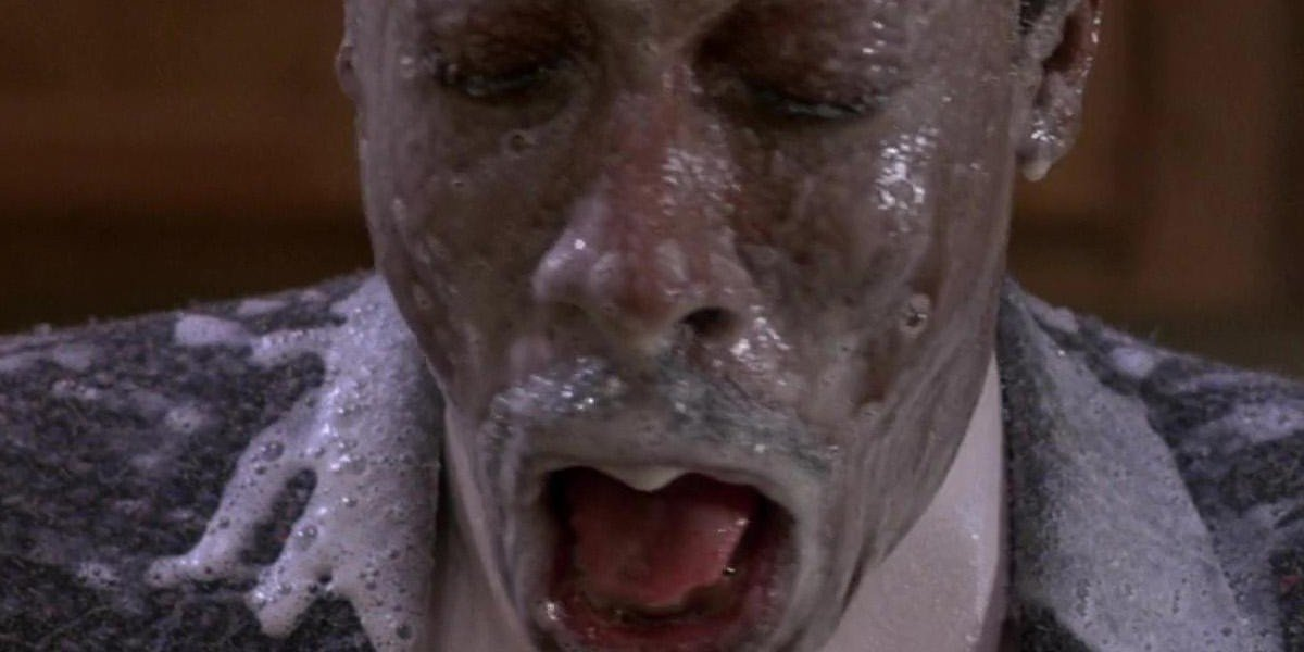 Arsenio with milk on his face