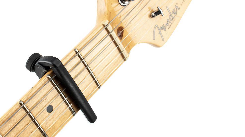D'Addario's Pro Plus capo mimics the way a human finger frets a string