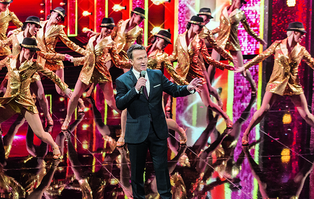 Guests joining host Bradley Walsh on the venerable Palladium stage tonight include 2012 X Factor winner James Arthur