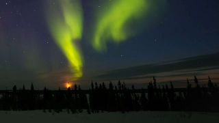 The northern lights. Switch off yours for earth hour.
