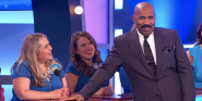 Watch Family Feud's Steve Harvey Get Hilariously Stumped By Flirty Contestant