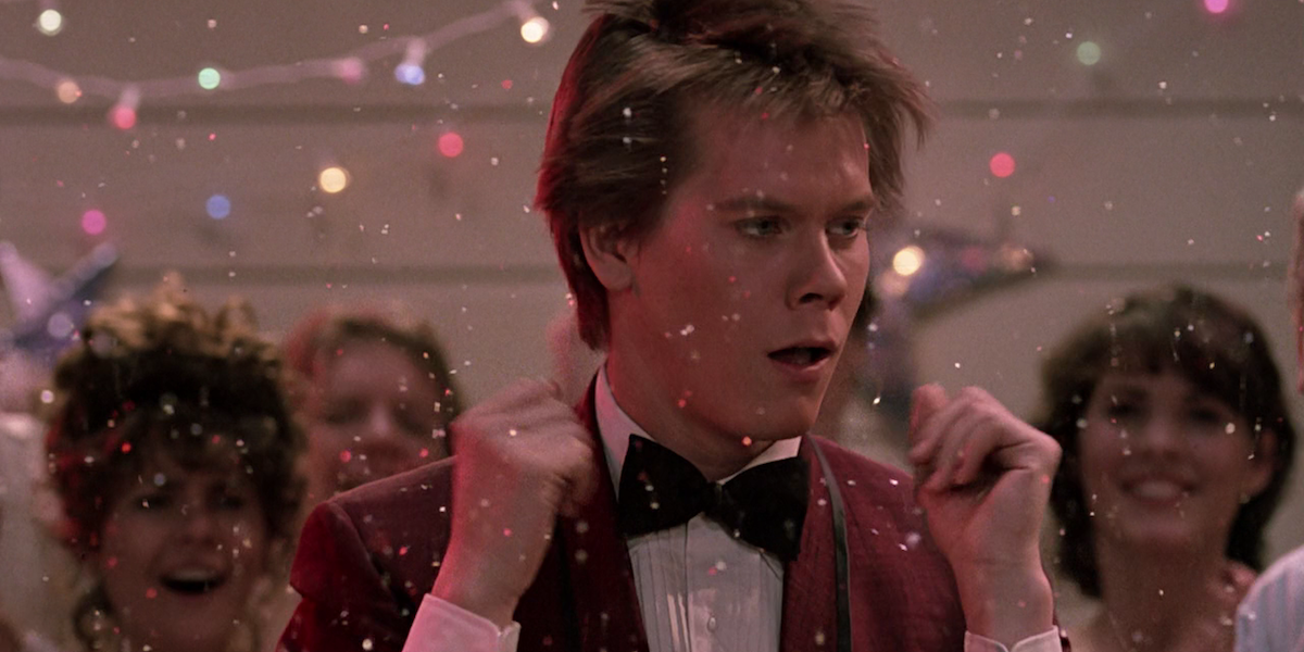Kevin Bacon in Footloose dancing