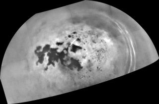 Islands on Saturn's moon Titan