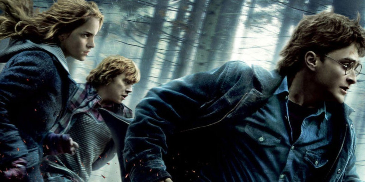 Harry Potter and the Death Hallows Part 1 with Rupert Grint, Emma Watson, and Daniel Radcliffe