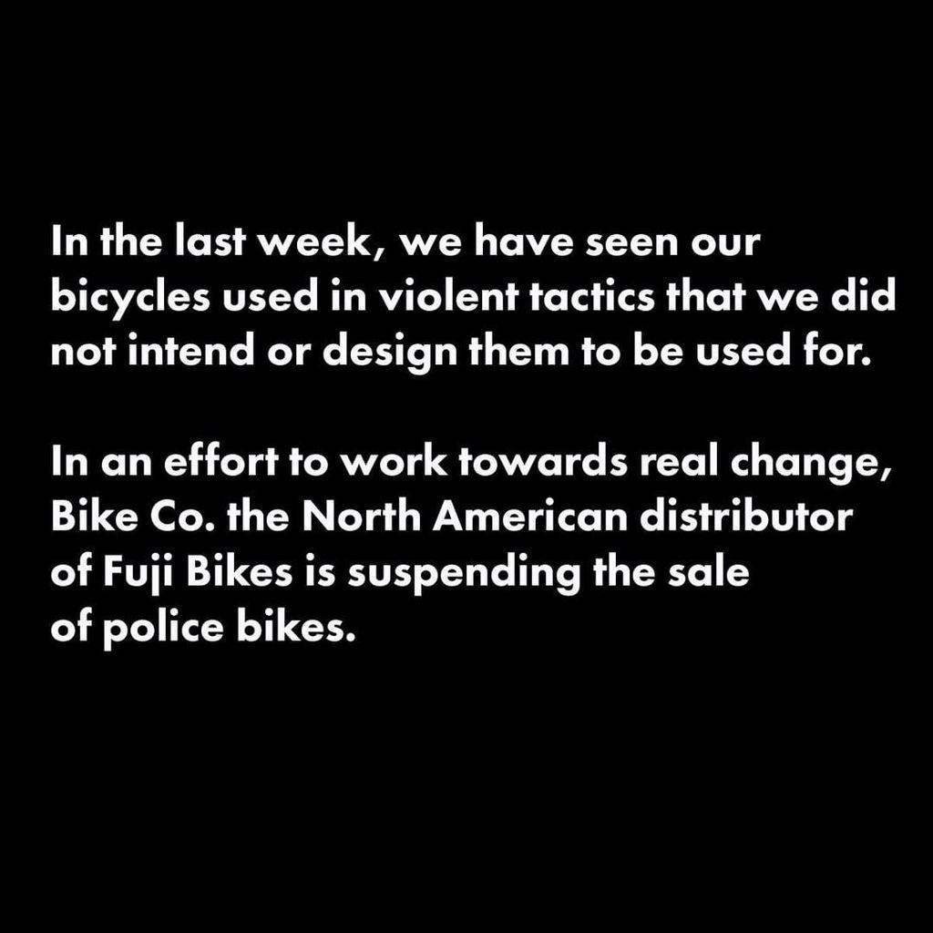 Fuji suspends bike sales to US police after violence against protestors