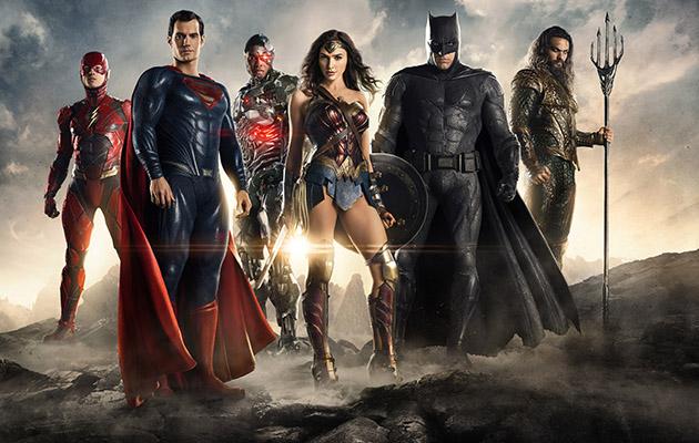 Justice League Ezra Miller Henry Cavill Ray Fisher Gal Gadot Ben Affleck Jason Momoa