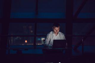 night owl, man working late