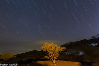 Star Trails Feynan Valley in Jordan Bashar Alaeddin