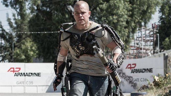 Elysium Matt Damon Running