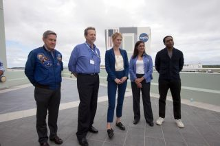 "'The Martian"" Cast at KSC for Digital Learning"