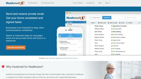 Hushmail secure email review