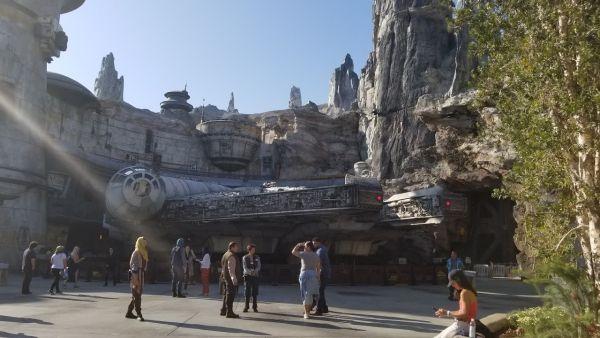 The Millennium Falcon at Star Wars: Galaxy's Edge