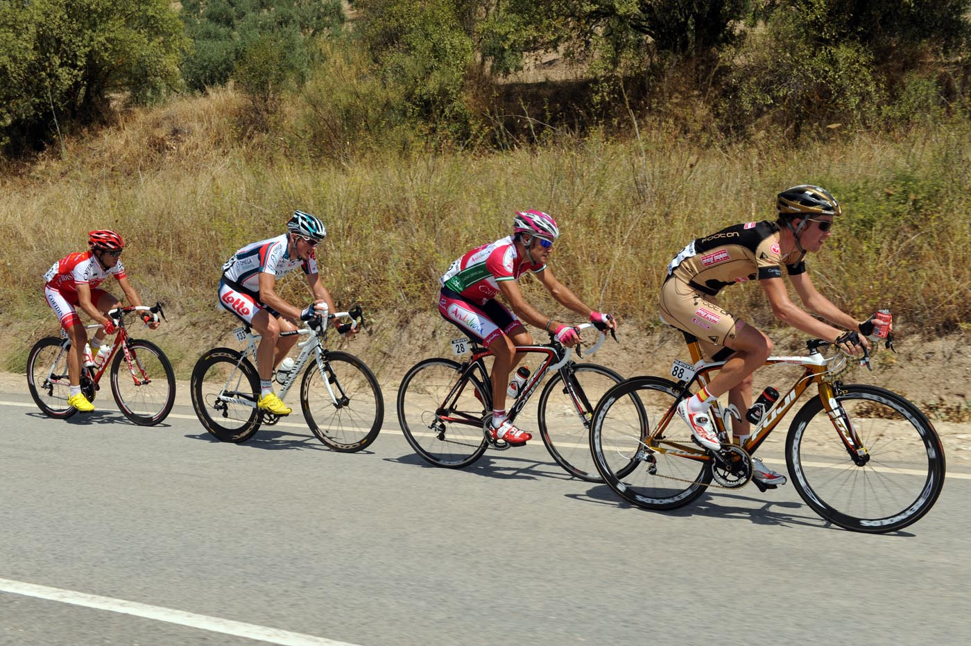 Johnnie Walker escape, Vuelta a Espana 2010, stage two