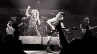 AC/DC onstage in 1980