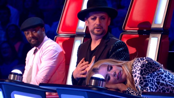 Boy George is not amused by Paloma's actions on The Voice