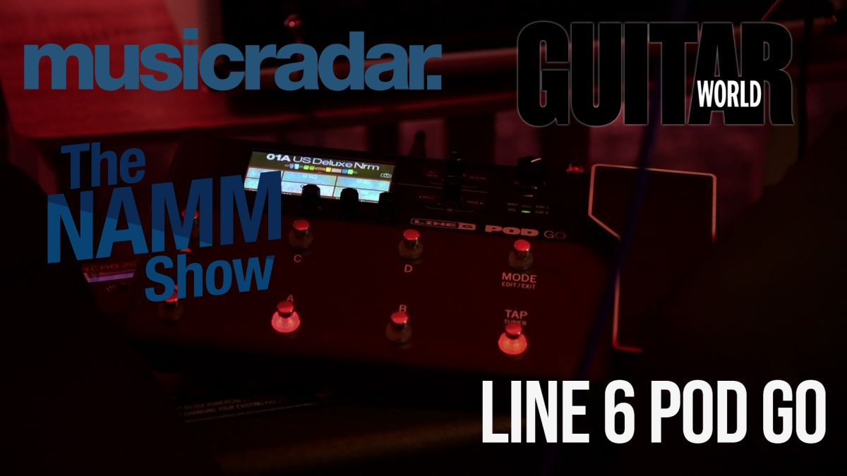 NAMM 2020 VIDEO: Line 6 announces POD Go portable guitar processor