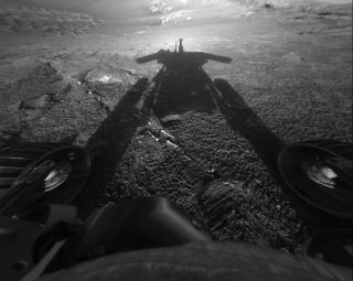 opportunity rover shadow