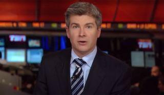 Dan O'Toole On TSN speaking at an anchor desk.