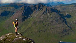 Hiker on An Teallach