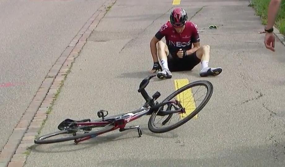 Geraint Thomas crashes out of Tour de Suisse 2019