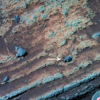 A rock fragment from an ancient volcanic eruption on Mars