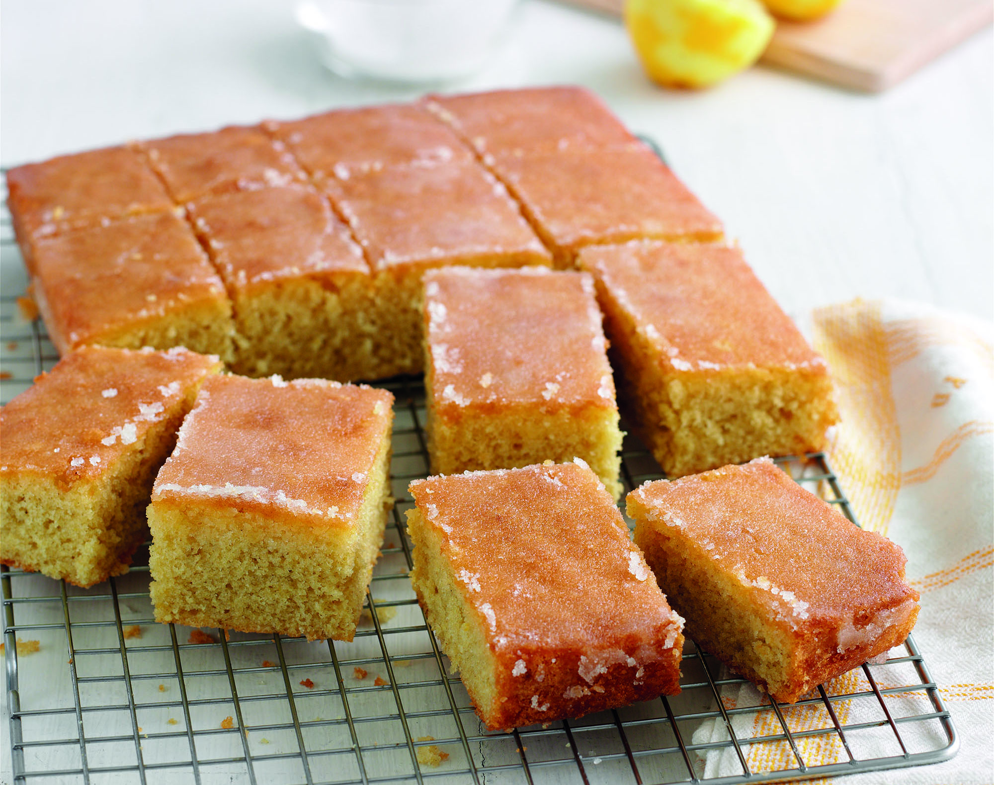 Treat Yourself To Mary Berry S Lemon Drizzle Traybake Dessert Recipes Woman Home