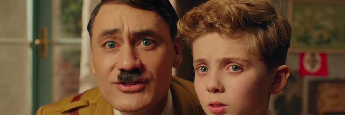 Hitler with a boy in Jojo Rabbit